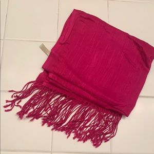 Pink Scarf with Sheen